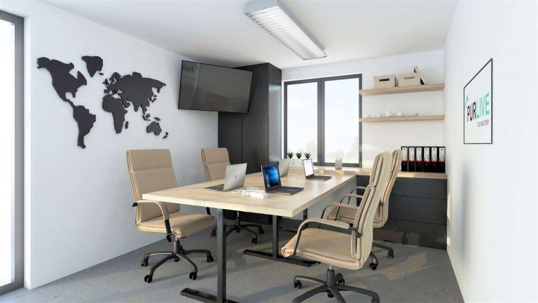 Vizualizace modulu M řady Universal - varianta pro kancelář